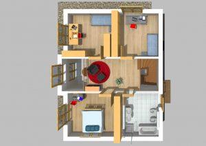 Walmdachhaus 150 m² 2